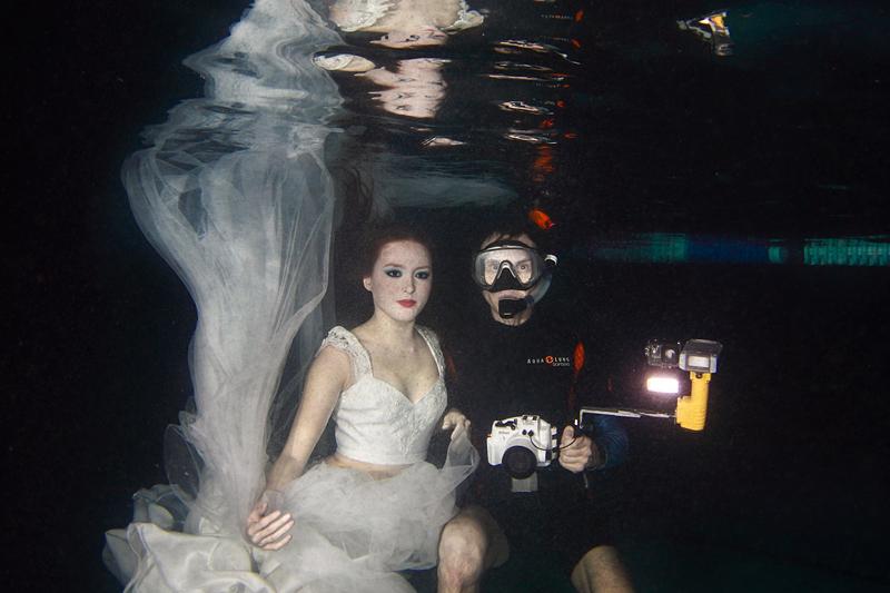 Как проходит съемка в подводной фотостудии