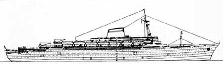 Схема лайнера \'Андреа Дориа\'