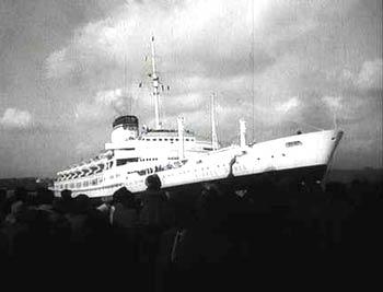 Итальянский лайнер \'Андреа Дориа\' перед своим последним рейсом