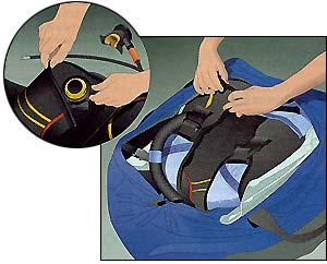 Упаковка регулятора в дорожную сумку