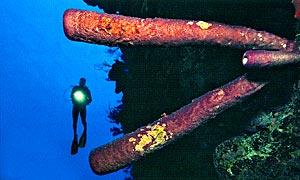 Коралловые стены на Гранд Турк начинаются всего в 270 метрах от восточного побережья