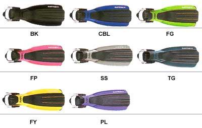 Цветовая палитра ласт Tusa Imprex