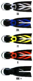 Цветовая палитра ласт SF-8