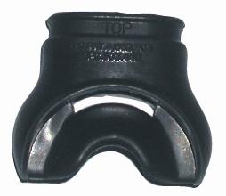 Анатомический загубник (черный силикон)