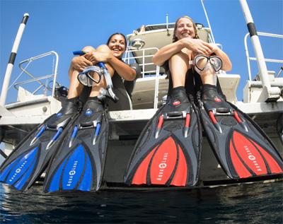 Снаряжение для дайвинга - Ласты Aqua Lung Slingshot