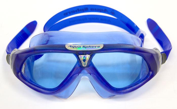 Очки и маски: Aqua Sphere Маска SEAL XP TEENS с синими линзами.