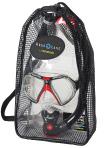 Комплект маска Инфинити + трубка Буран (прозрачный силикон, в сумке)