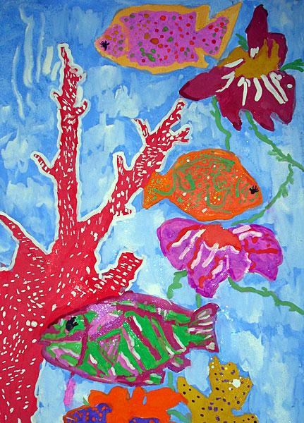 цветок детский рисунок:
