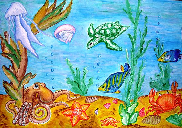 морские рисунки: