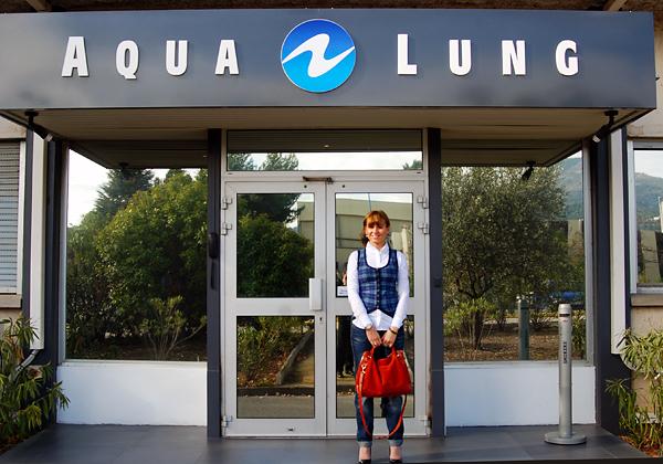 Поездка победительницы «Бонусной программы Aqua Lung» во Францию