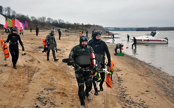 Соревнования по подводной охоте в Угличе