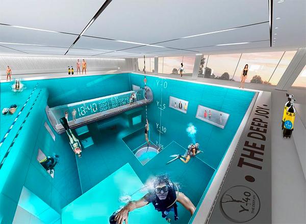Самый глубокий бассейн в мире - стройка в разгаре