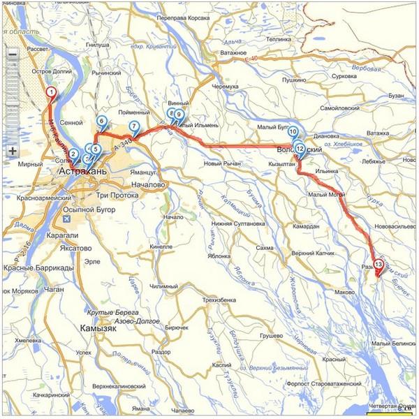 Новая схема проезда на базу Карай