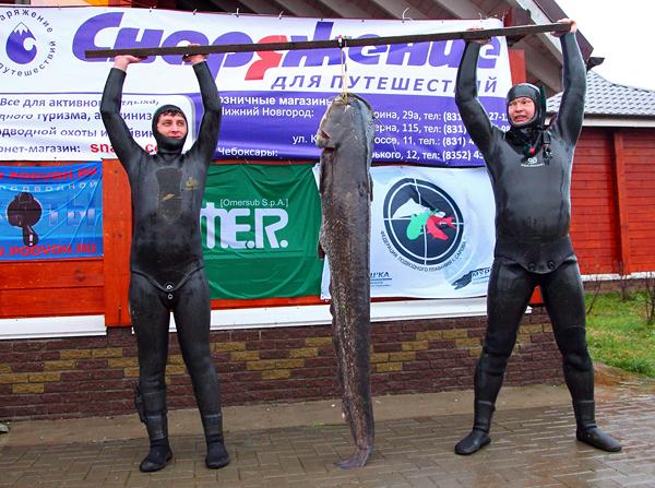 Тройные соревнования по подводной охоте прошли в Нижегородской обл.