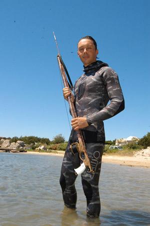 Снаряжение для подводной охоты - O.ME.R. - гидрокостюм Brown Mimetic