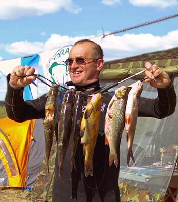 Виталий Якунин, победитель Открытого Кубка Владимирской области по подводной охоте